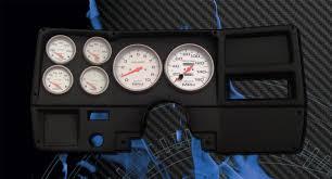 chevrolet truck 1973 83 fast lane west dash panels gauge 73 83 chevy truck black dash w elect ultra lite gauges