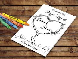 kids wedding activity book printable wedding printable coloring pages personalized pdf template