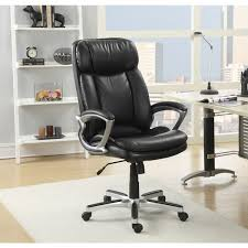 serta executive smooth black puresoft faux leather big and tall office chair
