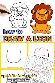 Connect the dots between them to reveal a picture and guess the animal behind. How To Draw A Lion Step By Step Drawing Guide Easy Peasy And Fun