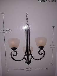hampton bay renae 3 light oil rubbed bronze chandelier