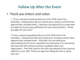 Career Fair Thank You Letter Letters Font