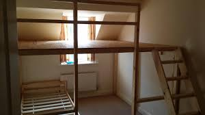 Building A Loft Bed How To Make A Loft Bed Large Diy Loft Bed Construction Wall To