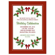 christmas party invitations holly border design printed christmas party invitation holly border