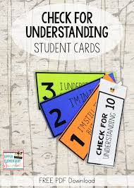 Upper Elementary Snapshots: Using Self-Assessment Cards During Whole ...