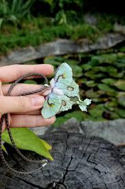 polymer clay necklace jewelry actias luna moth pendant erfly boho jewelry lime green jewelry