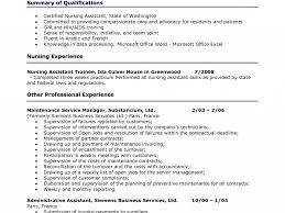 Cna Resume Samples Examples Sample Entry Level Objective Caregiver