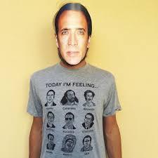 Nicolas Cage Emotion Chart Nicolas Cage Mood Board