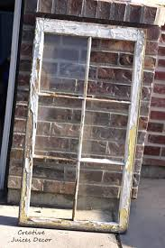 Wooden Window Frame Crafts Best Repurposing A Window Frame Into A Picture Frame With Old