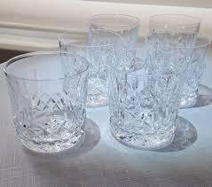 waterford crystal lismore rocks glasses dof set of six irish crystal barware 1 of 12 see more