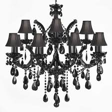 jet black chandelier crystal with shades traditional and chandeliers designs 11