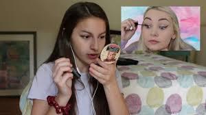 asmr i tried following an asmr darling makeup tutorial