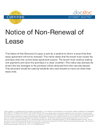 Rental Resume Png Nonrenewal Of Lease Letter Legal Documents How To