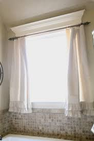 Decorative Windows For Bathrooms Diy Ruffle Drop Cloth Curtains Curtains Curtain Rods And Bathroom