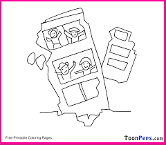 Small Picture Toonpeps Free Printable Earthquake Coloring Pages For Kids Free