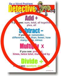 Math Word Problem Key Words Chart Using Key Words A Bad Math Strategy