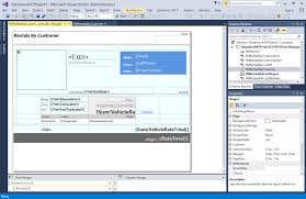 Visual Studio Design Tools Create Reporting Solutions Microsoft Docs