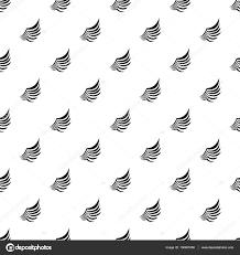 鳥の羽のパターンシンプルなスタイルを持つ翼 ストックベクター