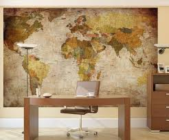 old school world map wall mural