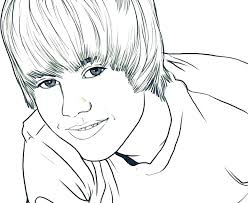big coloring pages of justin bieber coloring pages for kids winter page seated close up famous