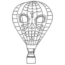 hot air balloon coloring page. Interesting Page Hot Air Balloon With A Face Design Coloring Pages Inside Page B