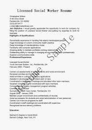 Sample Resume Of Social Worker Therpgmovie
