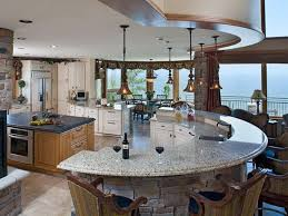 modern curved kitchen island. Affordable Luxurious Kitchen Decoration In Beach House With Modular Curved Granite Island As Well Bar Modern