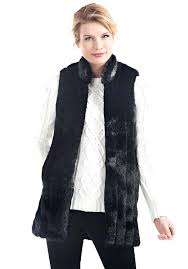 faux fur mink black mink every wear faux fur vest 1 kate spade faux fur mink