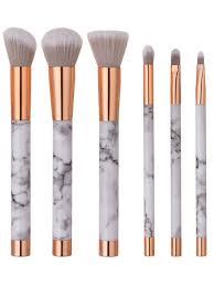 marble makeup brushes. best 6 pcs marble pattern makeup brush set - white brushes t