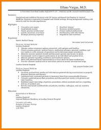 Cv Sample For Doctors Easy Medical Doctor Resume Template For Your