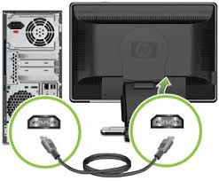 hp and compaq desktop pcs connecting speakers or headphones connecting the hdmi cable