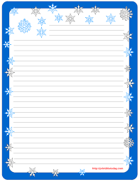 winter writing paper  printable winter stationery