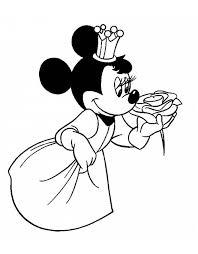 Disegno Di Principessa Minnie Da Colorare Per Bambini