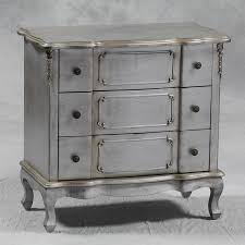Silver Shabby Chic Bedroom Furniture Shabby Chic Silver Leaf 3 Drawer Chest