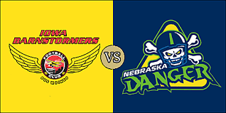 Image result for Nebraska Danger vs. Iowa Barnstormers