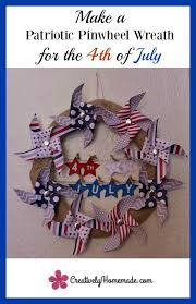 patriotic wreaths for front doorMake a Patriotic Door Wreath for the 4th of July  Creatively Homemade