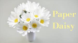 Daisy Paper Flower Crepe Paper Daisy Flower Tutorial Diy Paper Daisy Flower Creative Diy