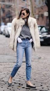 danielle bernstein is wearing a vintage fuzzy faux fur coat just the design