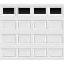Exellent Single Garage Doors Windows Value Series Noninsulated Short Panel Door With And Models Design