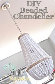 beaded chandelier tutorial my simple obsession