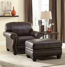 leather and leather match traditional quality leather rolled arm nailhead accent chair