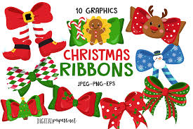 Christmas Ribbons Graphic By Digitalpapers Creative Fabrica