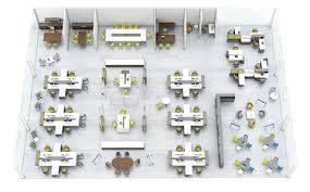 efficient office design. Layout Showing An Office Design. Efficient Design