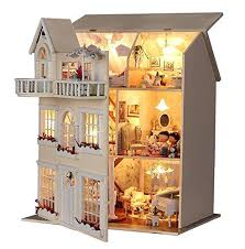 miniature wooden dollhouse furniture. rylai handmade wooden dollhouse miniature diy kit large villa u0026 furniture dollhouses kits i