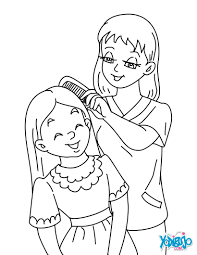 Small Picture Mother and daughter coloring pages Hellokidscom