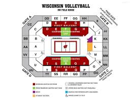 University Of Wisconsin Kohl Center Seating Chart Uw Volleyball Seating Chart Madison Com
