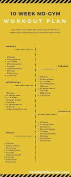 Workout Chart For Weight Gain Check Out The At Home Workout Plan That You Can Use To
