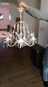 crystal ceiling chandelier in antique white