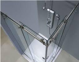 image of frameless sliding glass shower doors versus glass door