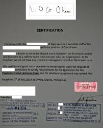 Certificate Of Good Moral Character Sample Template C Reference